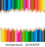 background with colored pencils.... | Shutterstock .eps vector #62243329