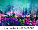 flowers painting | Shutterstock . vector #622433606
