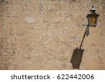 old streetlamp  hanging on  a... | Shutterstock . vector #622442006