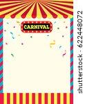 carnival sign and frame design... | Shutterstock .eps vector #622448072