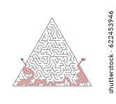 illustration of vector maze...   Shutterstock .eps vector #622453946