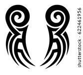 tattoo sketch tribal vector... | Shutterstock .eps vector #622461956