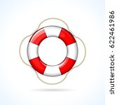 illustration of life buoy icon... | Shutterstock .eps vector #622461986