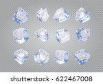 set of twelve transparent ice... | Shutterstock .eps vector #622467008