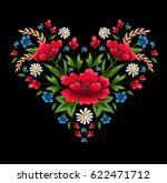 beautiful flowers embroidery... | Shutterstock . vector #622471712