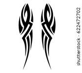 tattoo tribal vector designs....   Shutterstock .eps vector #622472702