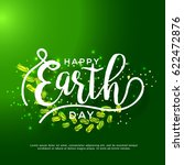 happy earth day poster or... | Shutterstock .eps vector #622472876