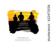 armed forces day template... | Shutterstock .eps vector #622473536