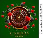 casino advertising design with... | Shutterstock .eps vector #622473692