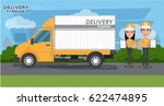 delivery concept. fast delivery ... | Shutterstock .eps vector #622474895