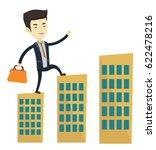 asian businessman walking on... | Shutterstock .eps vector #622478216