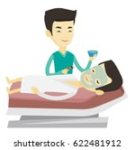 asian cosmetologist applying... | Shutterstock .eps vector #622481912
