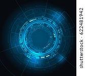 sci fi futuristic user... | Shutterstock .eps vector #622481942