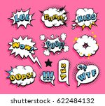 set of pop art explosion and... | Shutterstock .eps vector #622484132