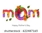 happy mothers day greeting card ... | Shutterstock .eps vector #622487165
