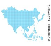 asia made of dots | Shutterstock . vector #622494842