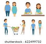 healthy food infographics.... | Shutterstock .eps vector #622499732