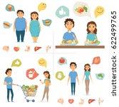 healthy food infographics.... | Shutterstock .eps vector #622499765