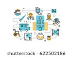 healthcare and medical line... | Shutterstock .eps vector #622502186
