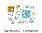 data analysis line icons... | Shutterstock .eps vector #622502192