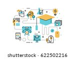 online education line icons... | Shutterstock .eps vector #622502216