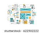 ui ux design line icons... | Shutterstock .eps vector #622502222