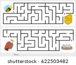 maze game  help the bee to find ... | Shutterstock .eps vector #622503482