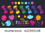 vector set of colored elements... | Shutterstock .eps vector #622505138