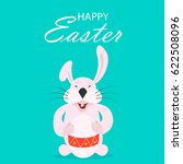 colorful happy easter greeting... | Shutterstock . vector #622508096