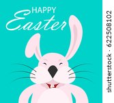 colorful happy easter greeting... | Shutterstock . vector #622508102