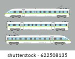 flat high speed train isolated... | Shutterstock .eps vector #622508135