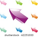 set of arrows of different... | Shutterstock . vector #62251033