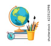 geography  globe and writing... | Shutterstock .eps vector #622512998