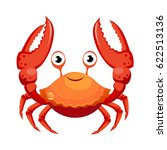 red crab  sea creature.... | Shutterstock .eps vector #622513136
