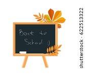 blackboard  chalk and fallen... | Shutterstock .eps vector #622513322