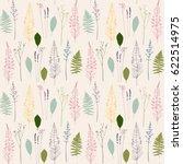 vector floral seamless pattern  ... | Shutterstock .eps vector #622514975