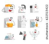 smiling household appliances... | Shutterstock .eps vector #622515422