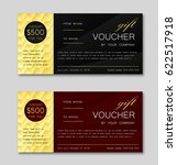 template of gift voucher with... | Shutterstock .eps vector #622517918