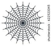 spider web   cobweb vector  on... | Shutterstock .eps vector #622523345