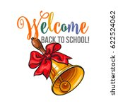 welcome back to school poster ... | Shutterstock .eps vector #622524062