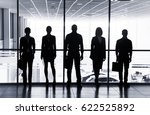 several silhouettes of... | Shutterstock . vector #622525892