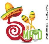 cinco de mayo icon design for... | Shutterstock .eps vector #622526942