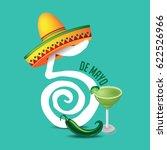 cinco de mayo icon design for... | Shutterstock .eps vector #622526966