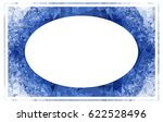 beautiful oval frame with... | Shutterstock .eps vector #622528496