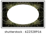 beautiful oval frame with... | Shutterstock .eps vector #622528916
