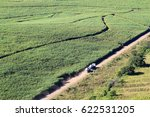 Aerial Perspective Of A Truck...