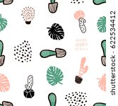 seamless pattern with cactuses... | Shutterstock .eps vector #622534412
