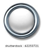button white isolated metal... | Shutterstock . vector #62253721