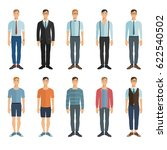young men in flat style. vector ... | Shutterstock .eps vector #622540502