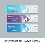 abstract web banner design... | Shutterstock .eps vector #622542992